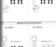 3.) Möbelschlüssel mit Bartformen